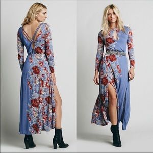 Free People L pieces of heaven floral maxi dress